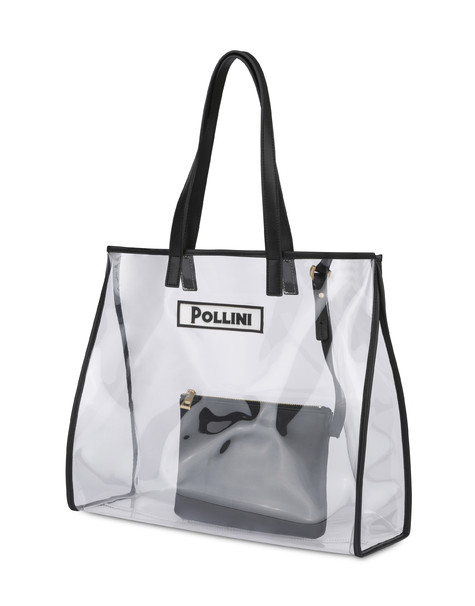 Shopping bag Transparent/black