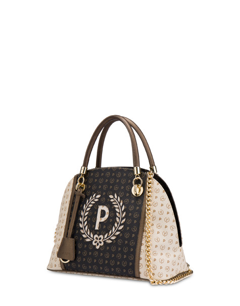 Bowling bag Ivory/black/bronze