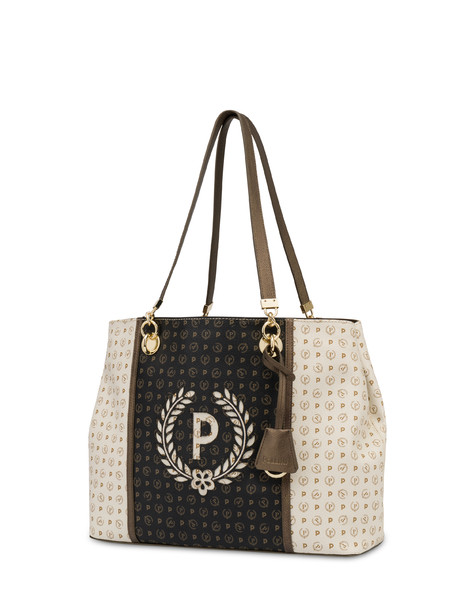 Special Heritage shopping bag IVORY/BLACK/BRONZE