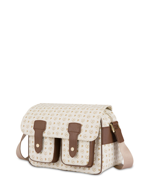 Messenger bag Ivory/brown