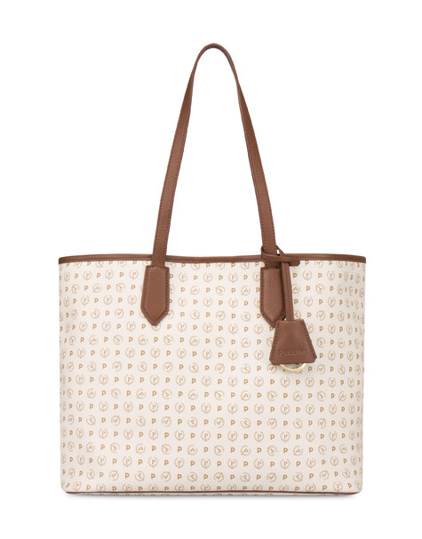 Shopping bag Ivory/brown
