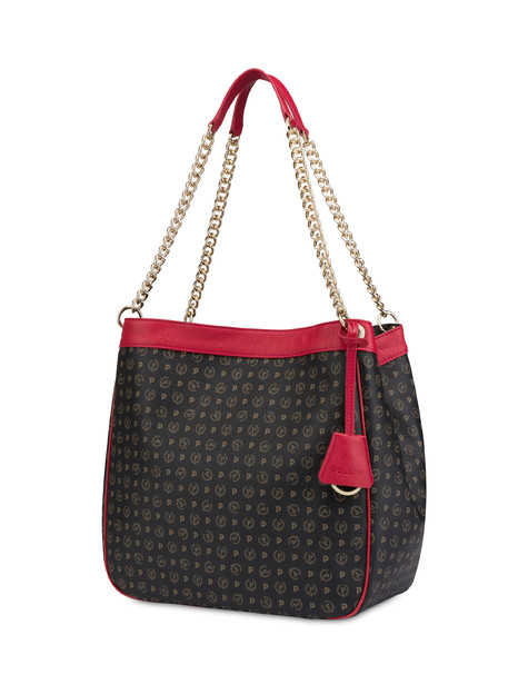 Hobo bag Black/laky red