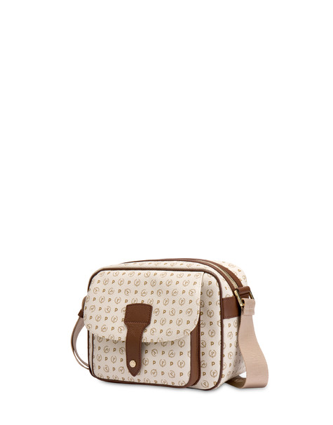 Shoulder bag Ivory/brown