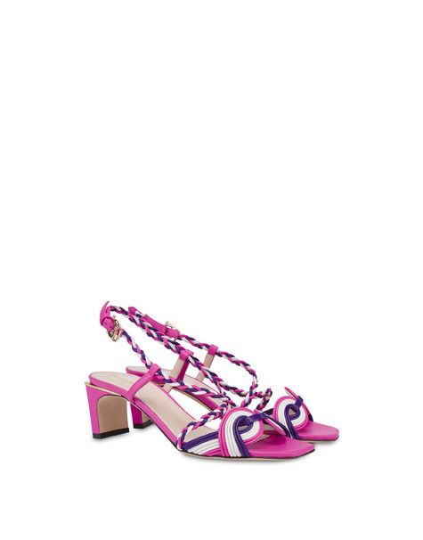 Sandals Fuchsia-white-violet
