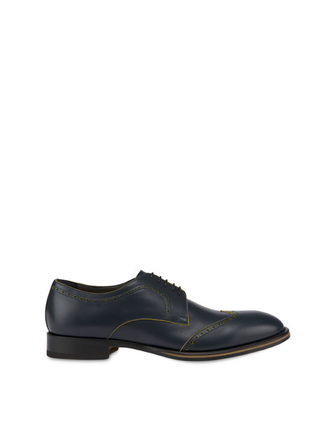 Derby shoes Ocean/mustard