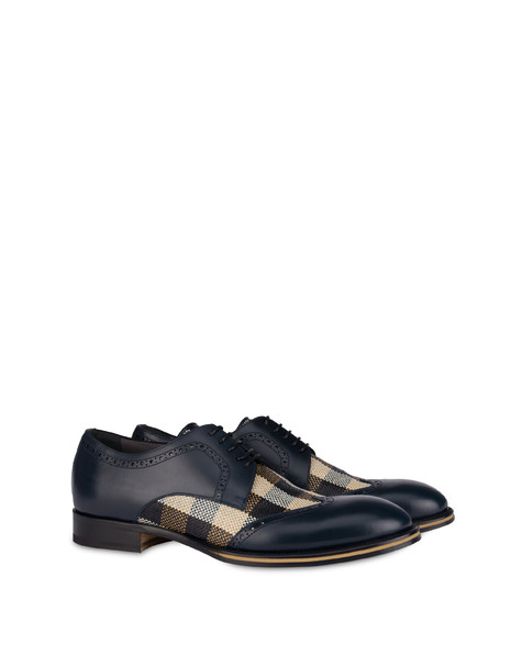 Derby shoes Ocean/beige-black