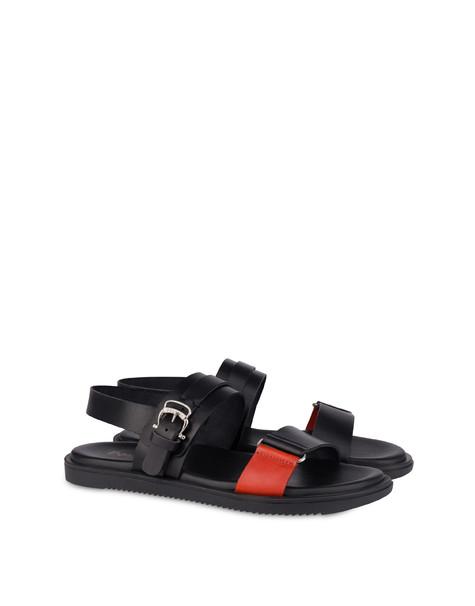 Sandals Black/orange