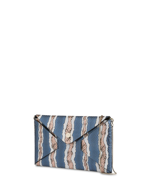 Clutch bag Blue-copper-cream