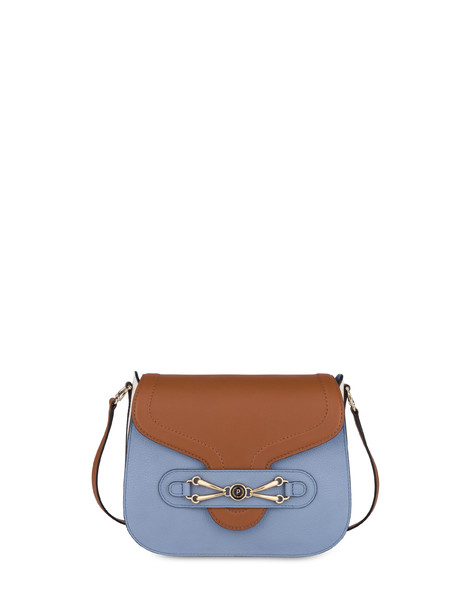 Shoulder bag Hide/sky blue/plaster