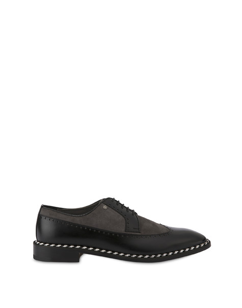 Derby shoes Stone/black