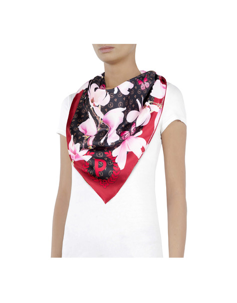 Heritage Secret garden silk scarf Black