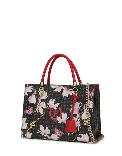 Shopping bag Heritage Secret Garden NERO/ROSSO