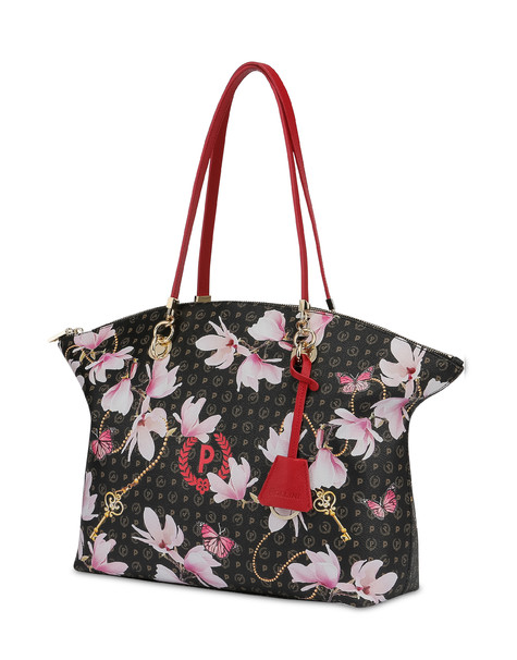 Heritage Secret Garden tote bag BLACK/RED