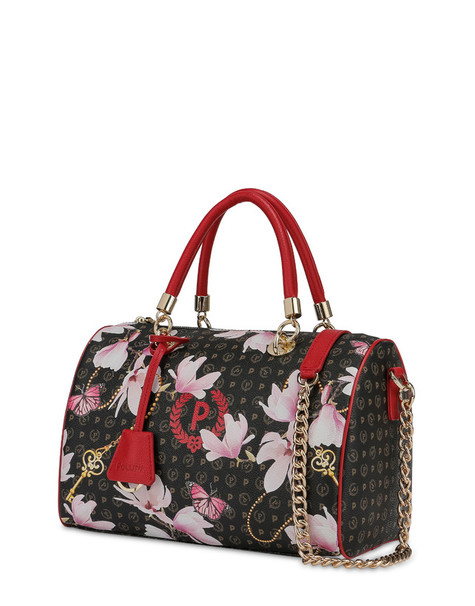 Heritage Secret Garden bowler bag BLACK/RED