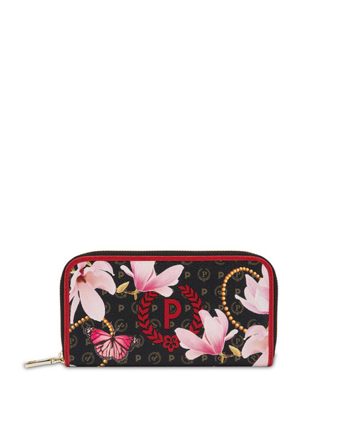 Heritage Secret zip-around wallet BLACK/RED