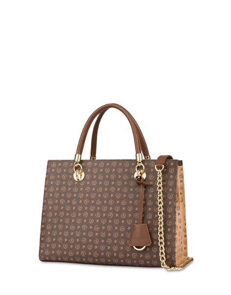 Heritage bicolor shopping bag BROWN/CREAM/BROWN