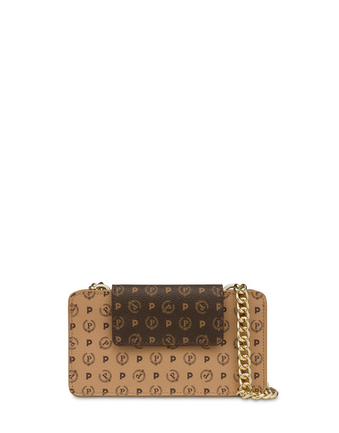 Heritage bicolor cell phone clutch bag BROWN/CREAM/BROWN