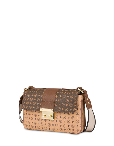 Heritage bi-color shoulder bag BROWN/CREAM/BROWN