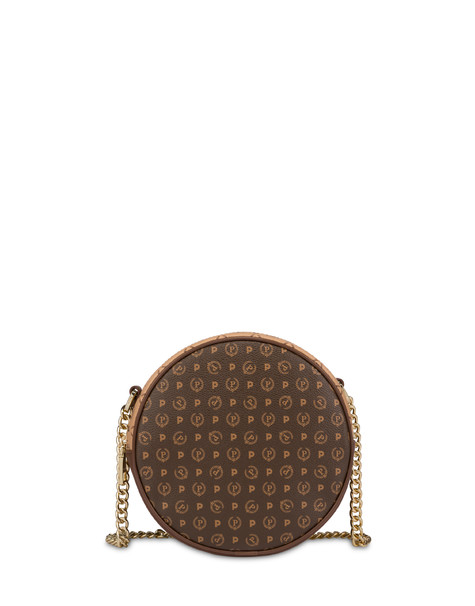 Round bicolor Heritage bag BROWN/CREAM/BROWN