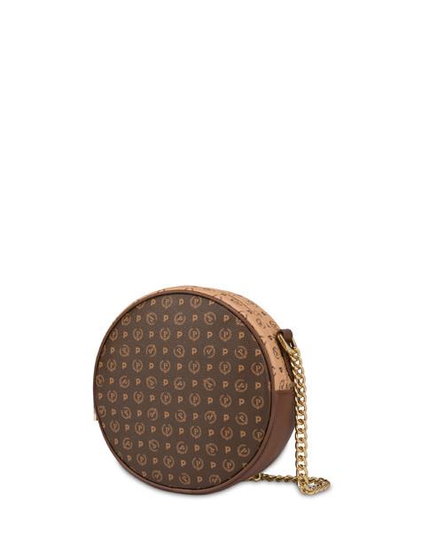 Round bag bicolor Heritage MARRONE/CREMA/MARRONE
