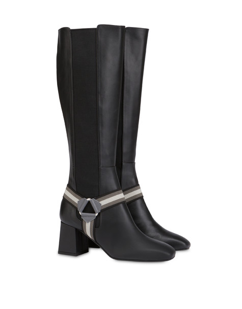 Mountain Horse Riding calfskin boots BLACK/FOG