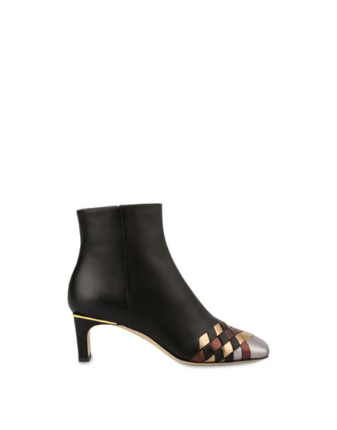 The Grid calfskin ankle boots BLACK/STEEL/BRONZE/COFFEE