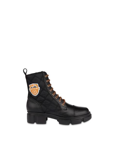 Anfibi in vitello Aspen Patch Boots NERO/NERO