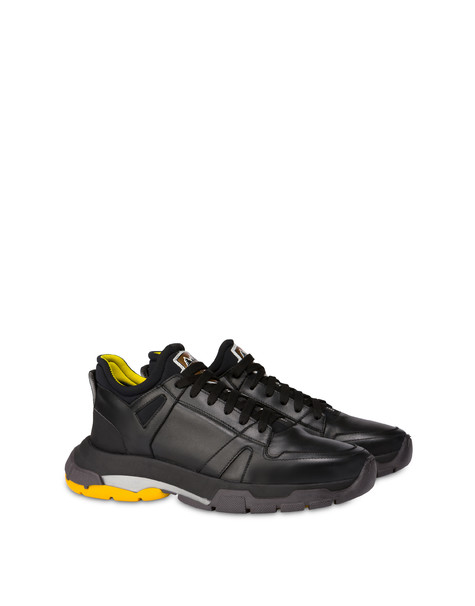 Sfera calfskin and neoprene sneakers BLACK/BLACK/BLACK