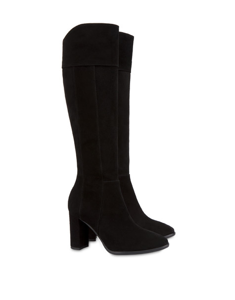 The Woman In Boots costa suede boots BLACK