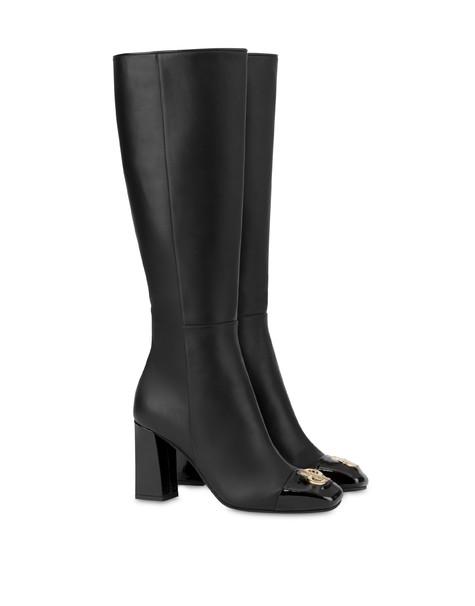 Twin P calfskin boots BLACK/BLACK