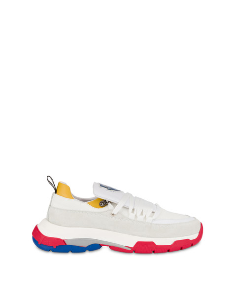 Sfera sneakers in nylon and leather WHITE/WHITE/OCHRE/WHITE