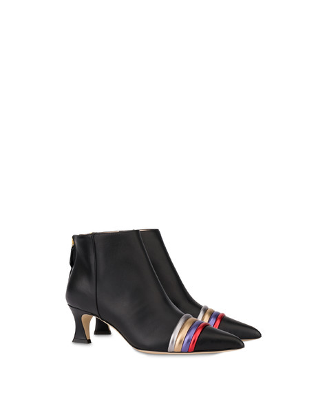 Rainbow calfskin ankle boots BLACK/STEEL/BRONZE/VIOLET/RED