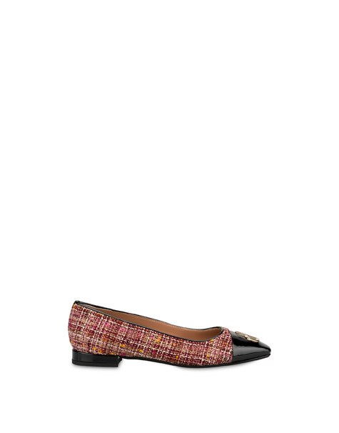 Twin P ballet flats in wool fabric BRUNELLO/BLACK