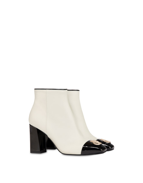 Twin P calfskin ankle boots ICE/BLACK