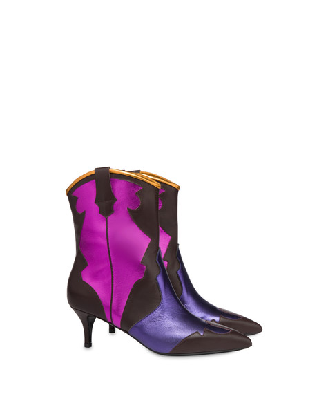 Calfskin ankle boots From Texas To Colorado BRUNELLO/VIOLET/FUCHSIA/ORANGE