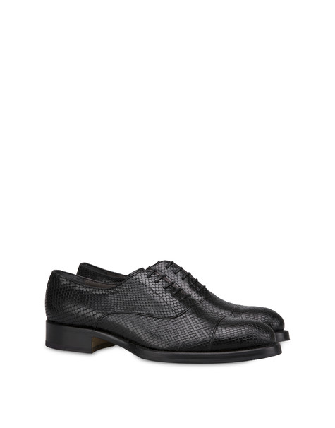 Color Line brogue shoes in python print leather BLACK