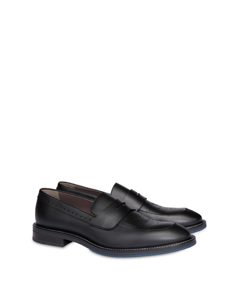 Dandy calfskin moccasins BLACK