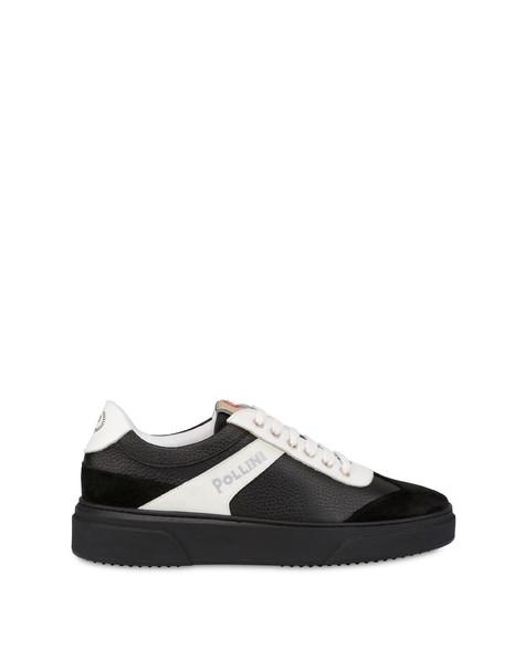 Classic tumbled calfskin sneakers BLACK/BLACK/WHITE/WHITE