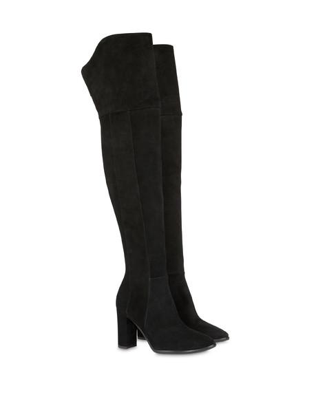 Stivali alti in crosta The Woman In Boots NERO