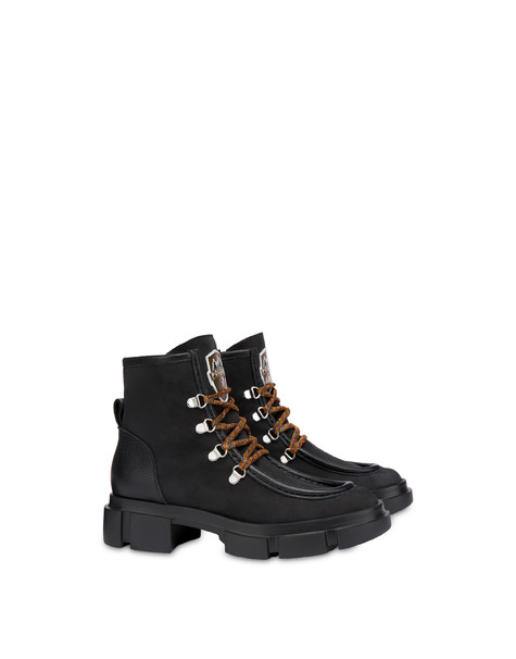 Aspen Patch Paraboot ankle boots BLACK/BLACK