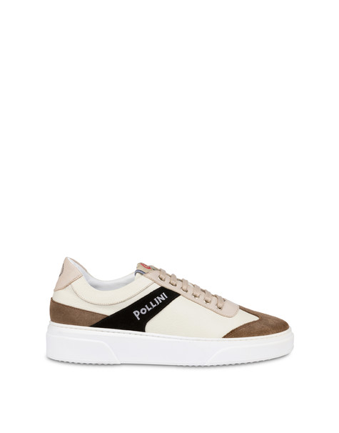 Classic tumbled calfskin sneakers ICE/EARTH/BLACK/ICE