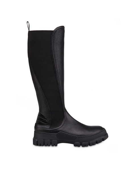 Snow Hill Climb tumbled calfskin boots BLACK