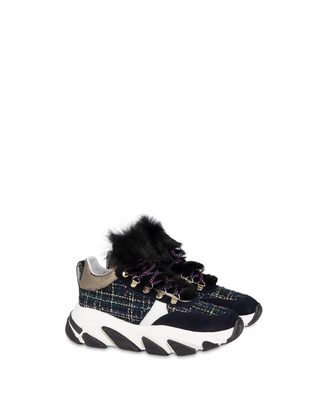 Mountain Walk wool fabric sneakers BLACK/WHITE/OCEAN/GUN/BLACK