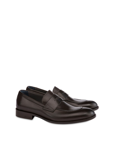 Classic Leather moccasins in calfskin COFFEE