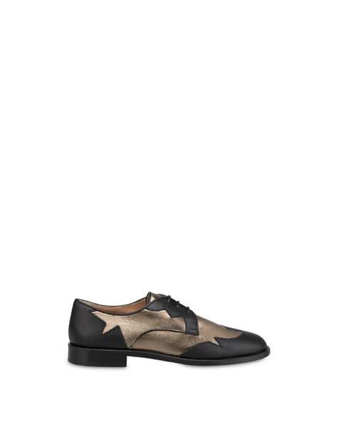 From Texas To Colorado calfskin and laminated nappa derby lace-ups BLACK/GUN