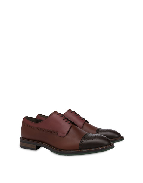 Dandy derby in calfskin BRUNELLO/BROWN/COFFEE