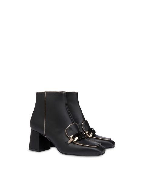 Sunkissed calfskin ankle boots BLACK/GUN