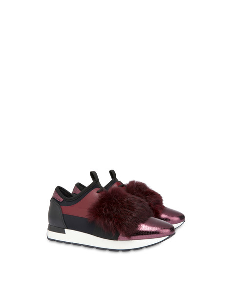 Sneakers slip-on Fur Elastic Run Brunello/brunello/nero/nero/brunell
