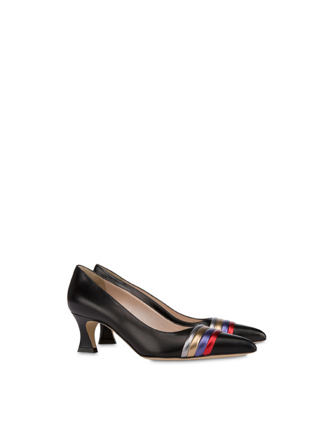 Rainbow calfskin décolleté BLACK/STEEL/BRONZE/VIOLET/RED