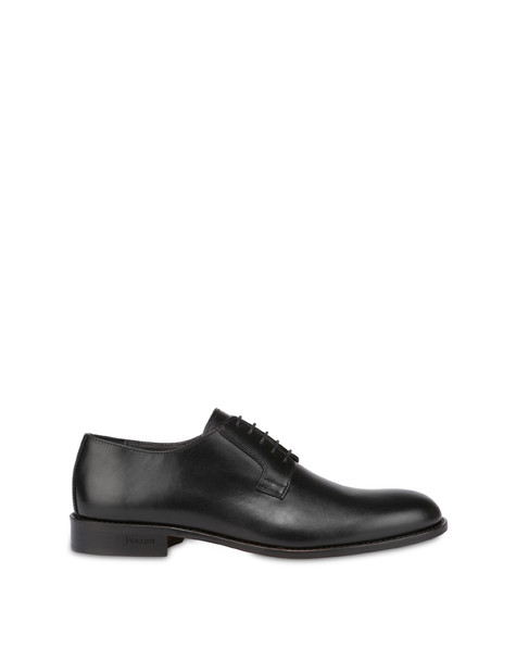Classic Leather derby in calfskin BLACK
